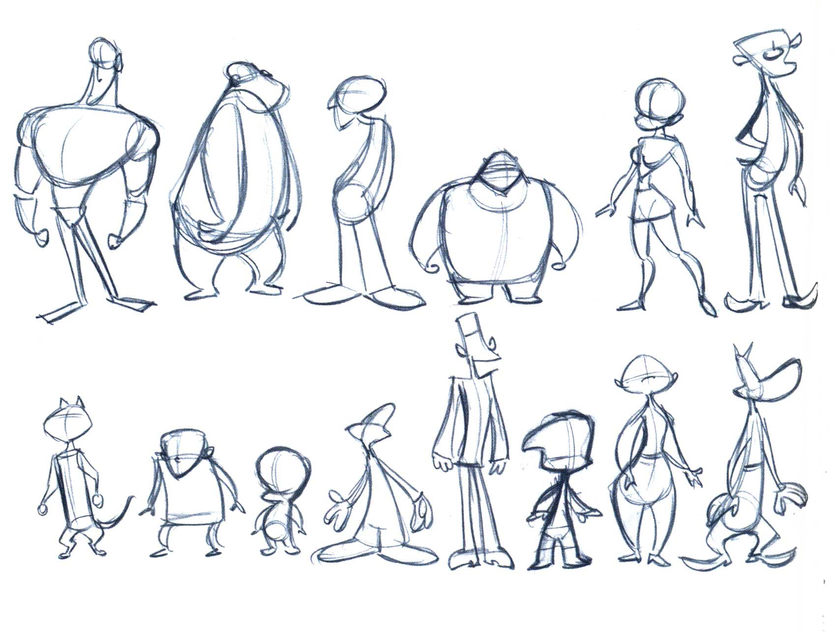 Character Design Body : Prof spevack d animation ad
