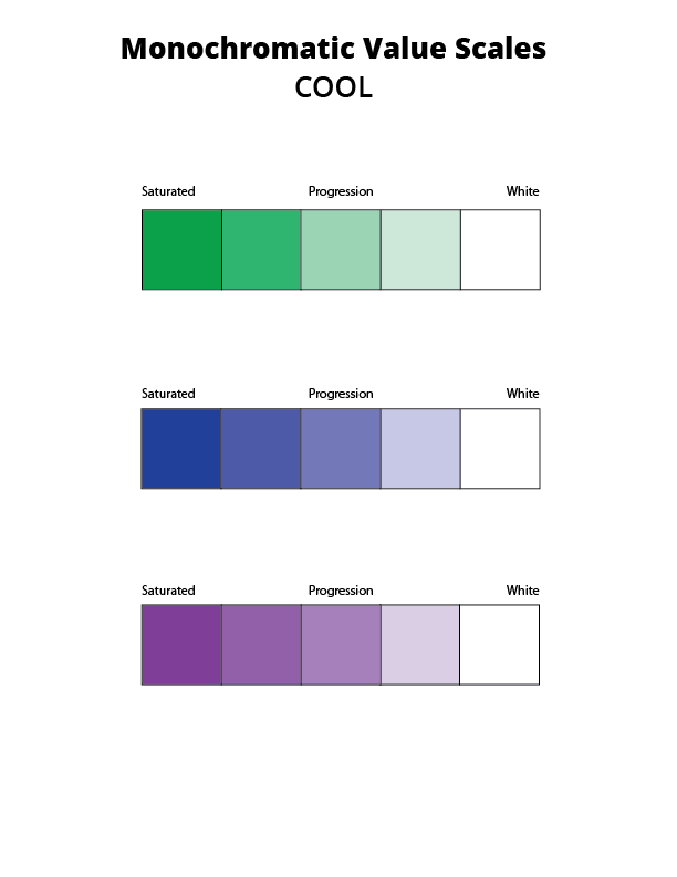 cool monochromatic value scale