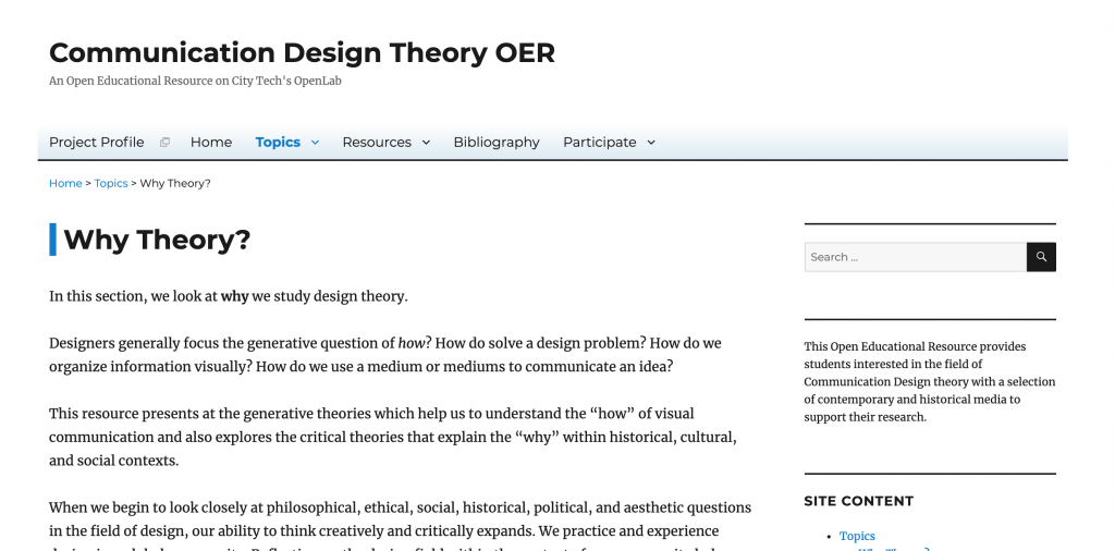 Communication Design Theory OER image